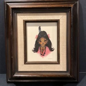 Gerda Christoffersen Papoose Native Girl Print